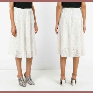 NEW $365 SEE BY CHLOÉ micro-pleat lace skirt 44